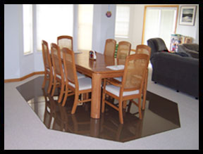 Custom Dining Room Floor Mats