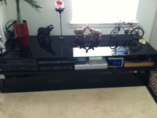 Glass Topped Entertainment Center