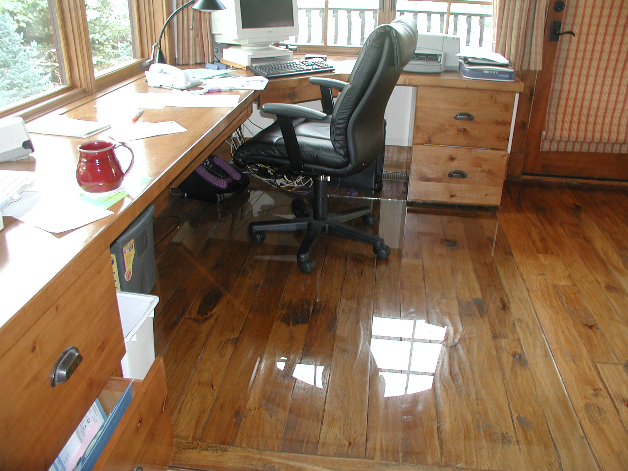 chair mat work on hard floors and cement floors yes our glass chair