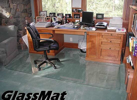 custom chair mats, glass custom floor mats