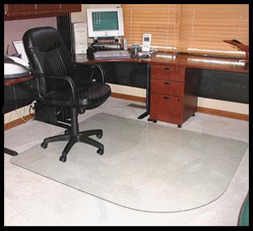 plastic chair mats vs glass chair mats